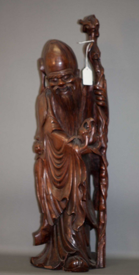 8: Chinese Large Wooden Longevity God