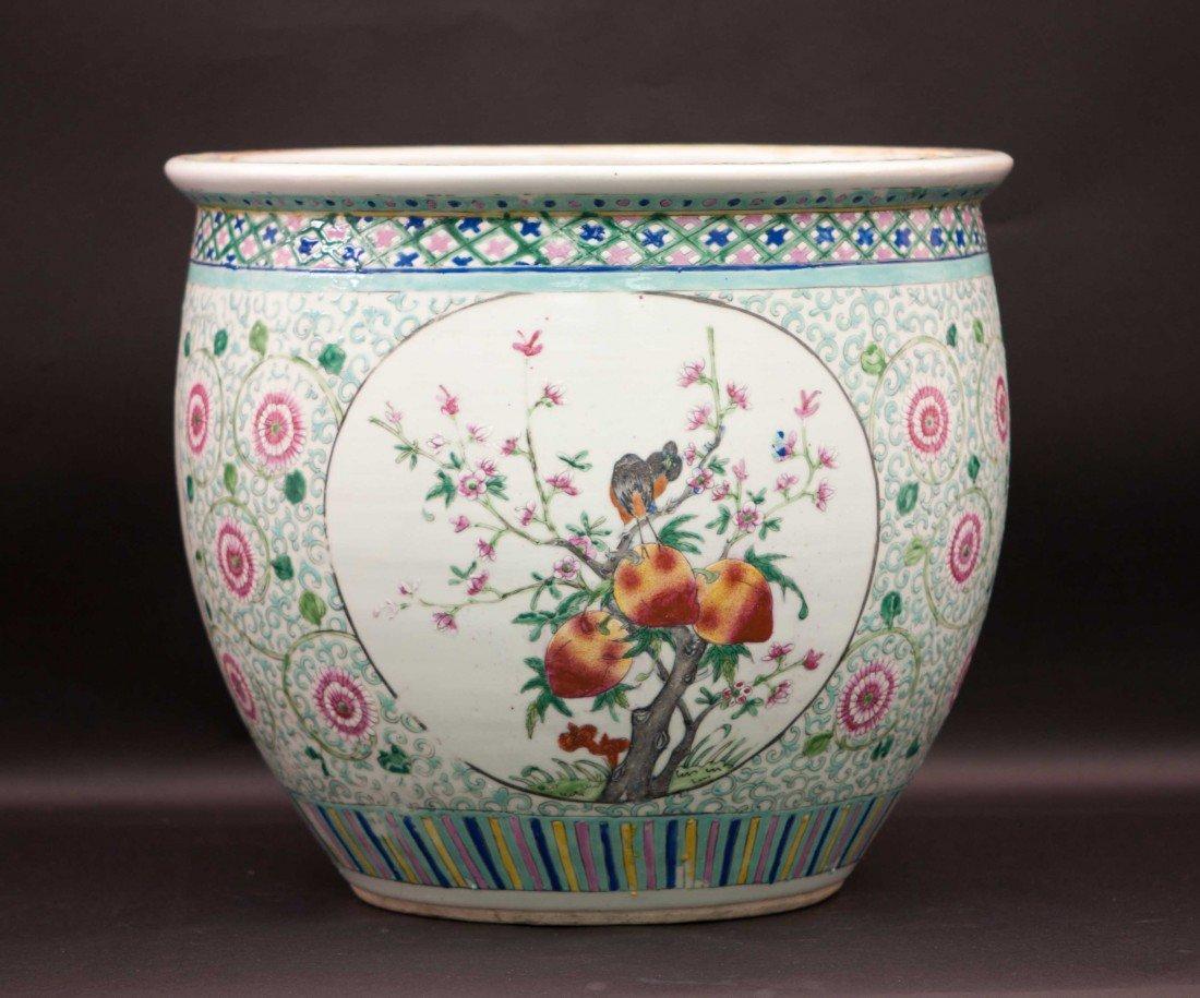 15: Chinese Famille Rose Fish Bowl