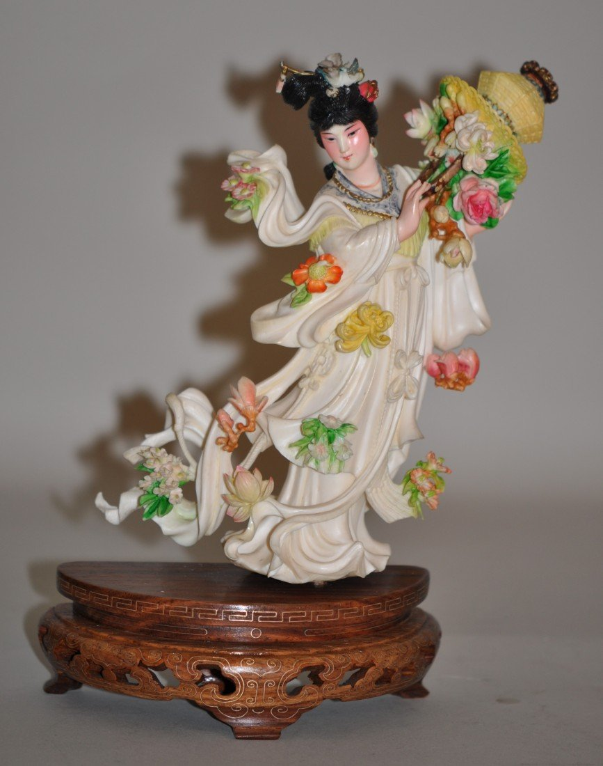 6: Chinese Polychrome Ivory Fairy