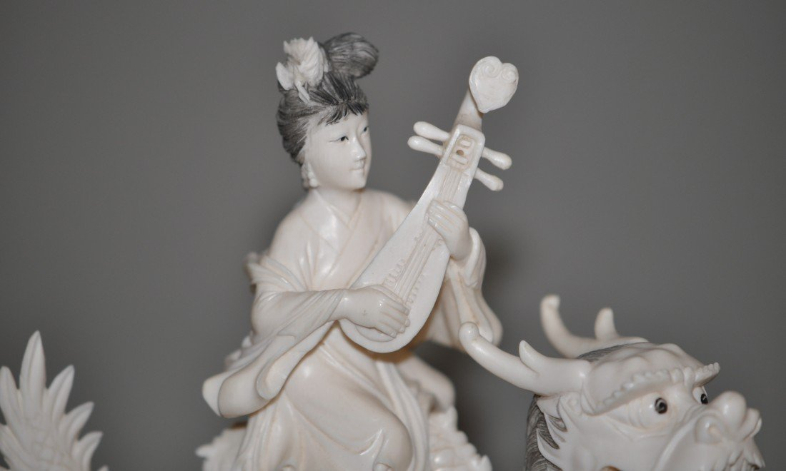 13: Chinese Set of 4 Ivory Fairies - 2