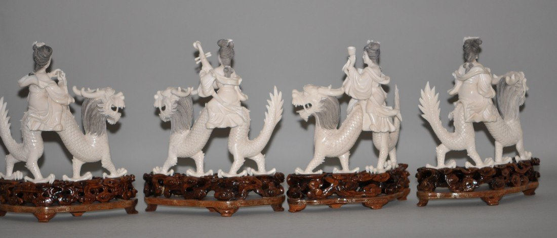13: Chinese Set of 4 Ivory Fairies - 4