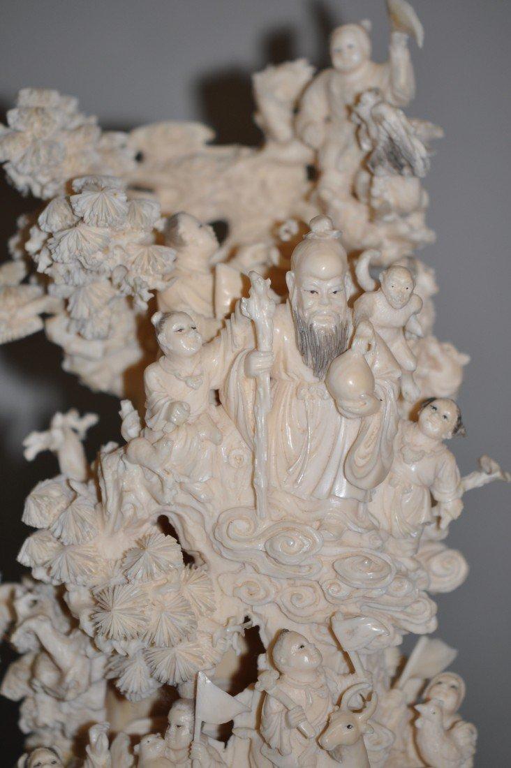 14: Chinese Ivory Heavenly Scenary Longivity God and Hu - 2