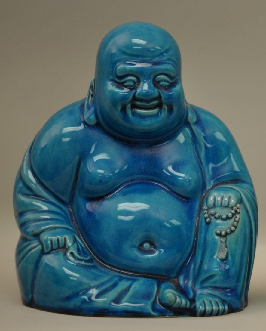 17: Chinese Torquoise-blue Happy Buddha