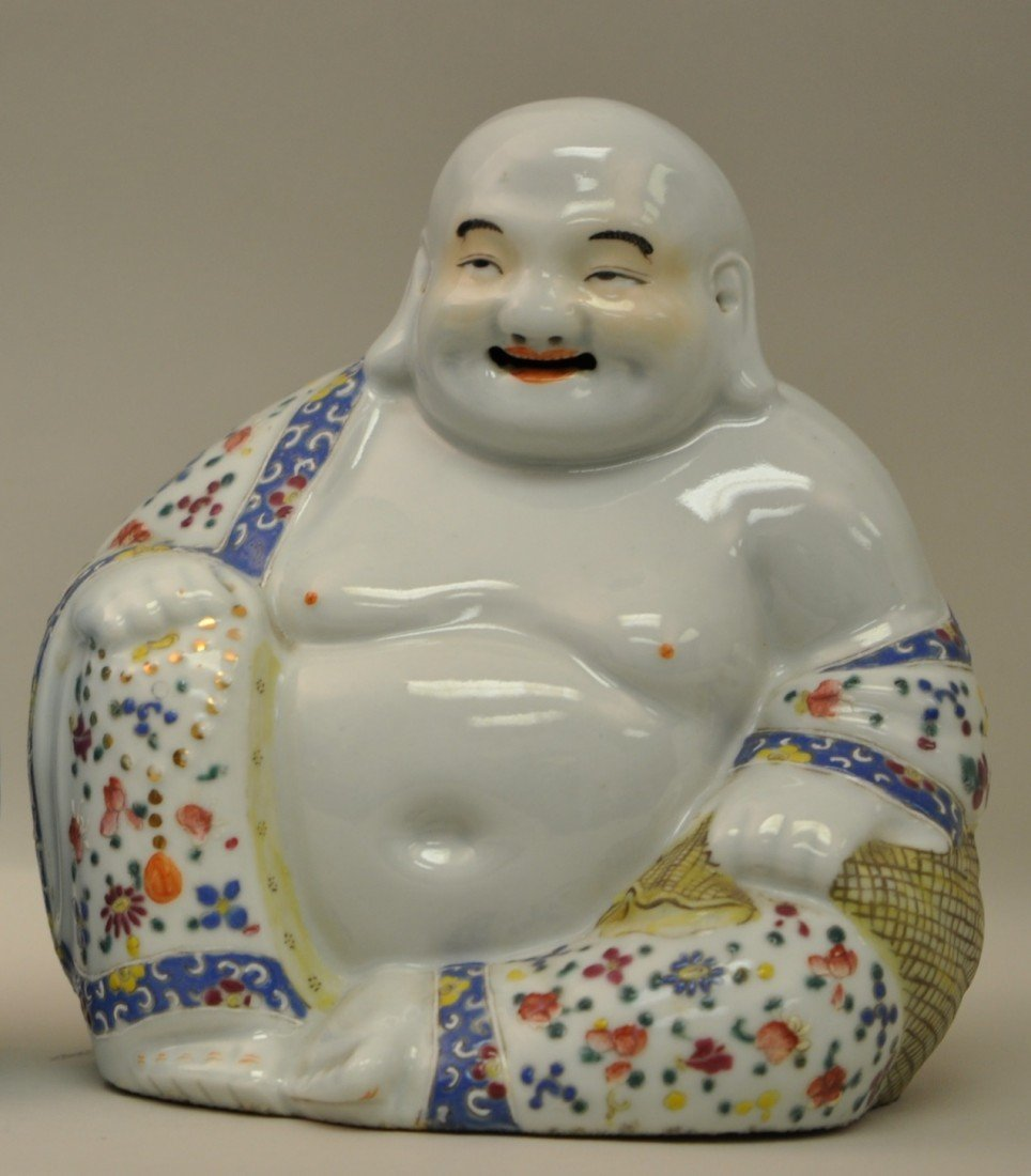 18: Chinese Famille Rose Happy Buddha by