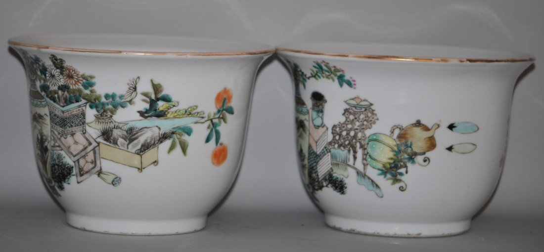 21: Chinese Late Ching Pair of Planters