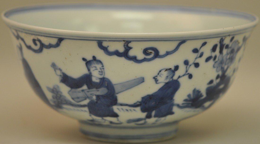 23: Chinese Blue-white Bowl in Mandarins