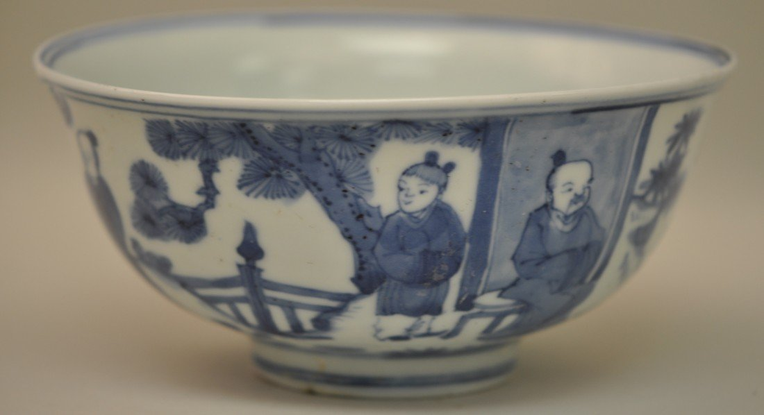 23: Chinese Blue-white Bowl in Mandarins - 3