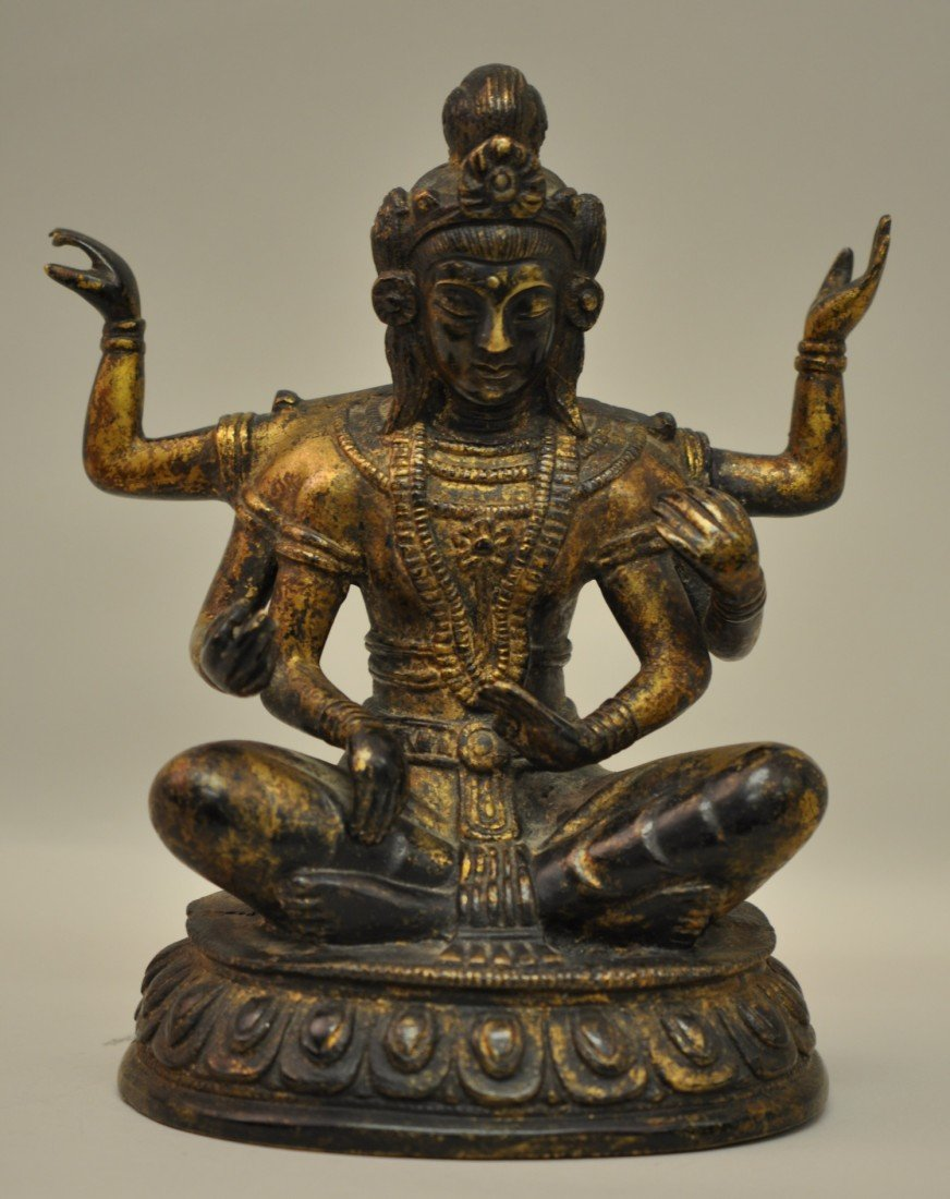 25: Chinese Bronze Tibetan Buddha