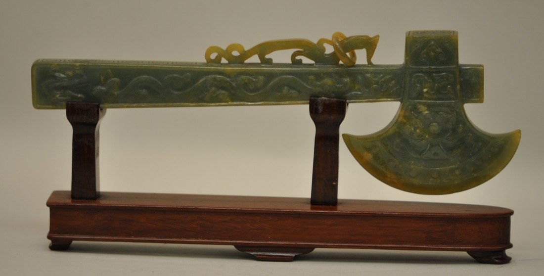 38: Chinese Jadeite Axe on the Stand