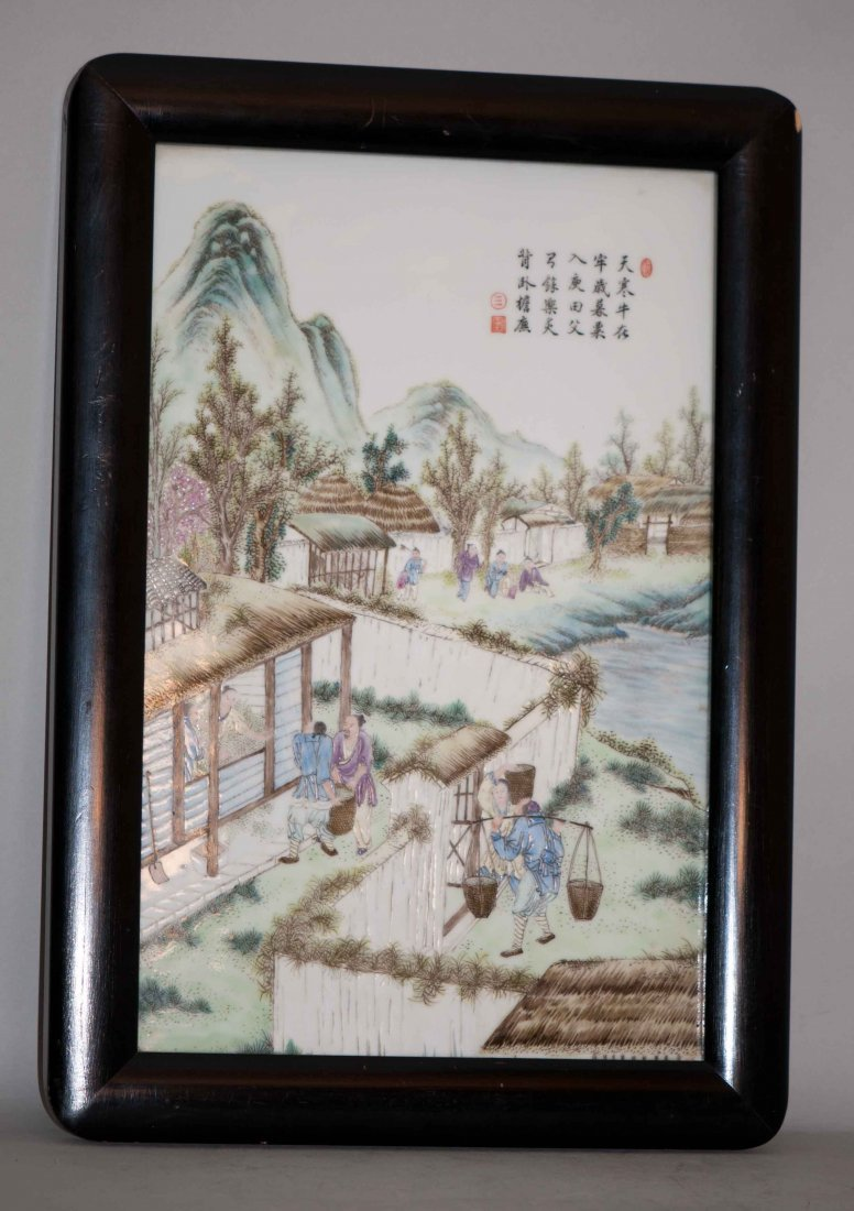 92: Chinese Fmille Rose Plaque