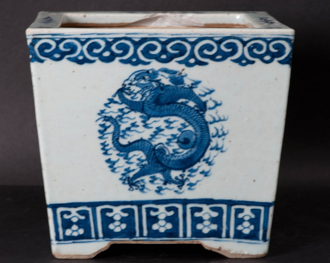 7: Chinese Blue-white Square Planter