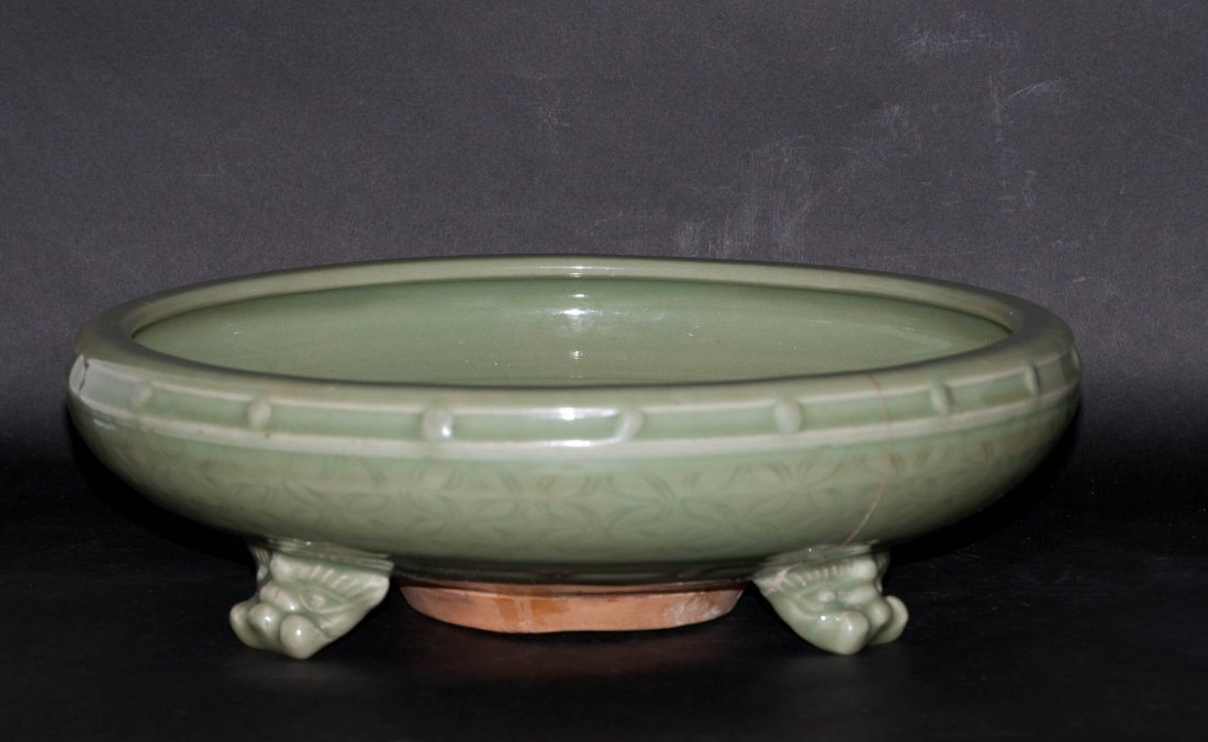 8: Chinese Large Long Quan Shallow Bowl