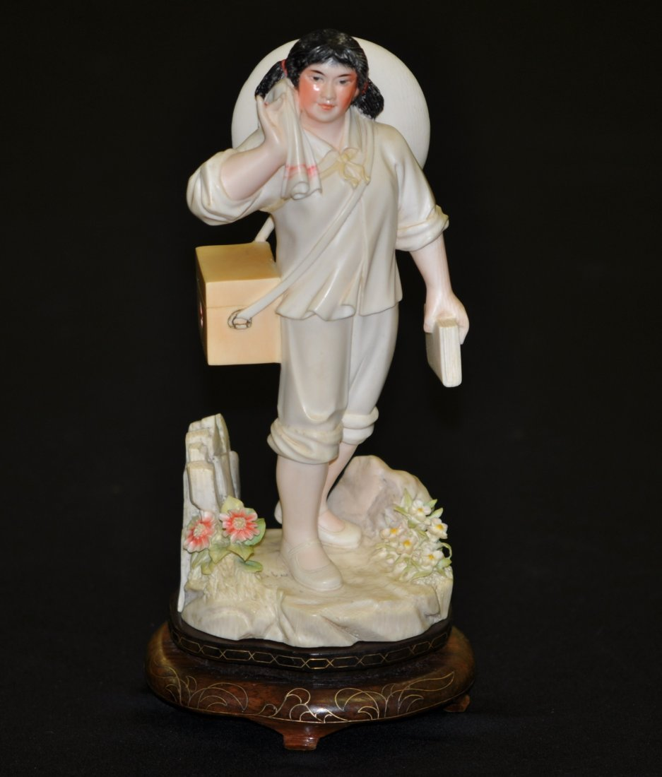 85: Chinese Polychrome Ivory Female Doctor