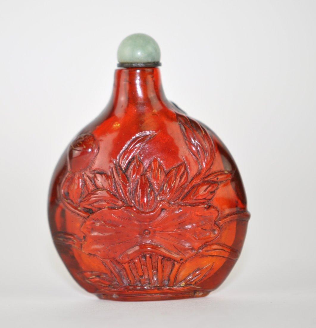 6: Chinese Amber Snuff Bottle