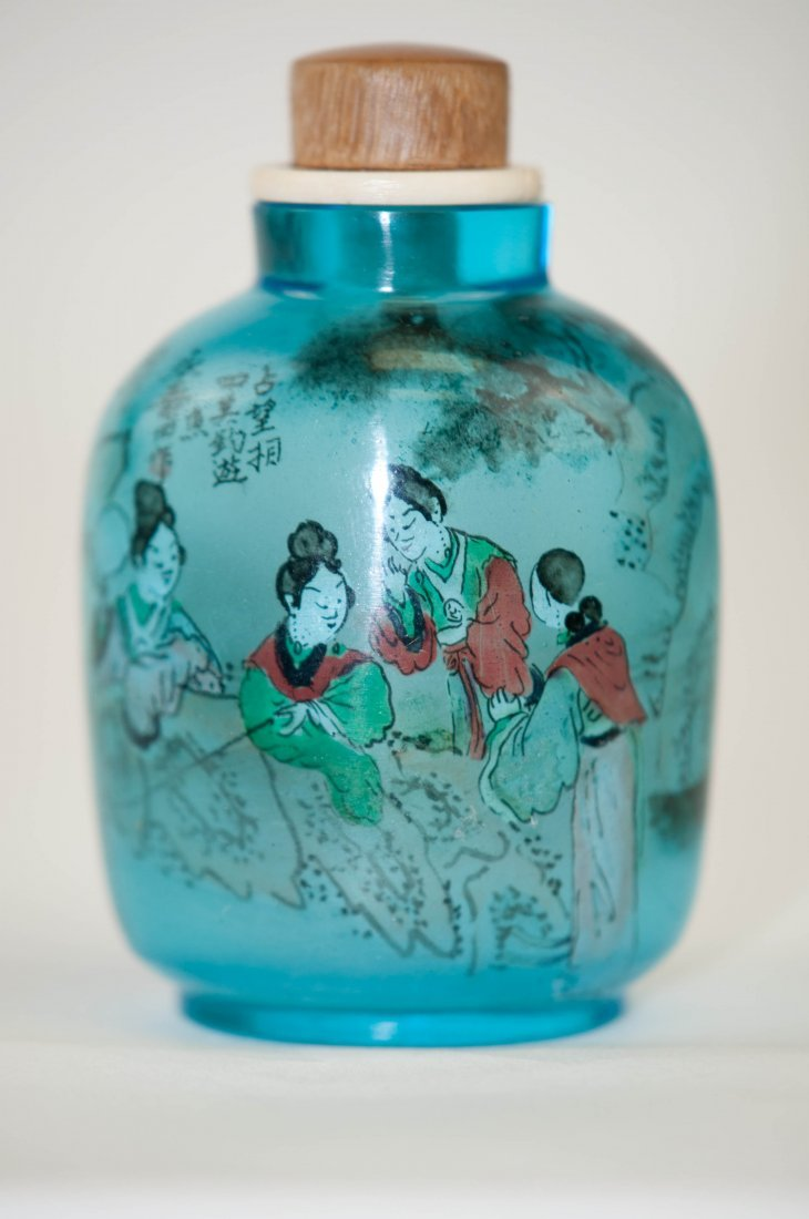 12: Chinese Blue Chrystal Snuff Bottle
