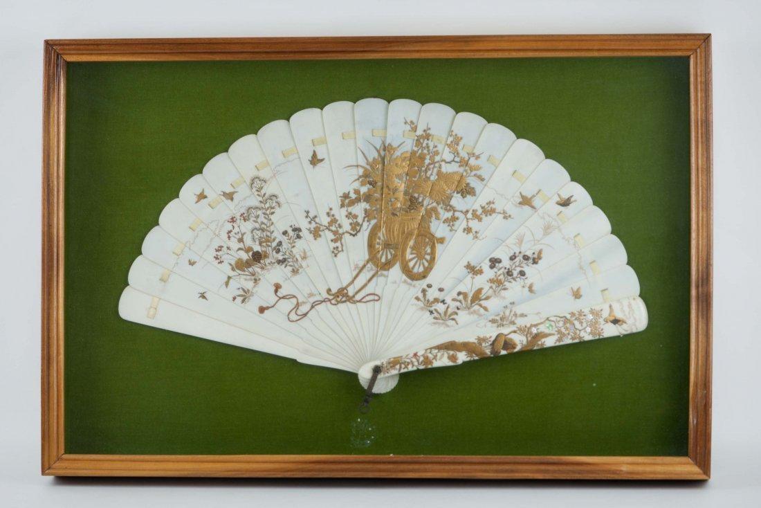 6: Orental Framed Ivory Fan