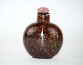 13: Chinese Pekin Glass Snuff Bottle