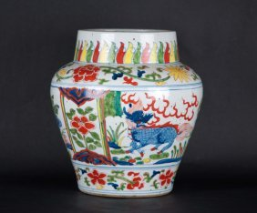 Chinese Five-colored Pot