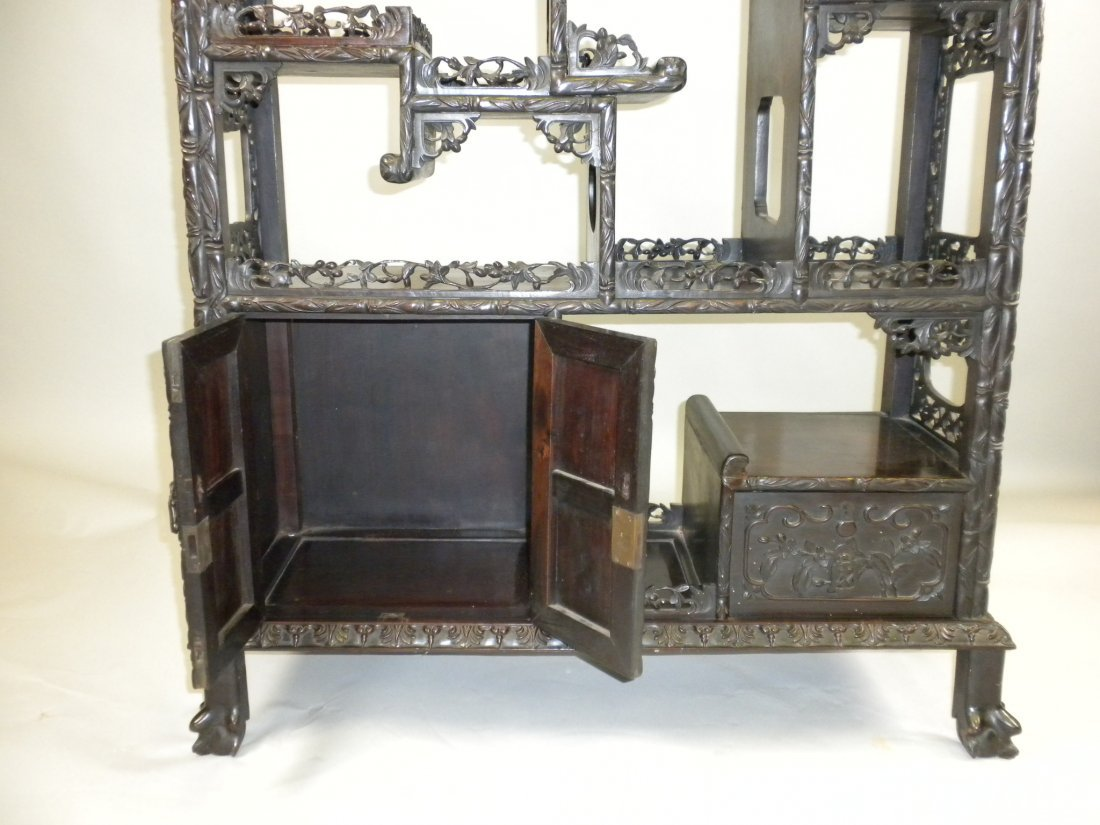 156: Chinese Large Rosewood Display Cabinet - 2