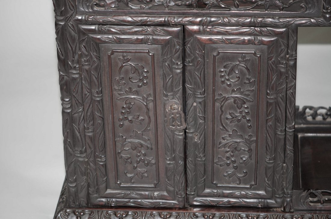156: Chinese Large Rosewood Display Cabinet - 5
