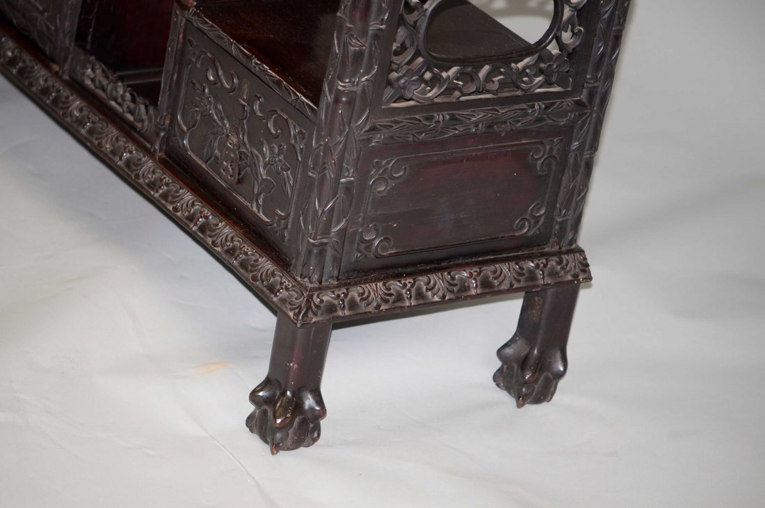 156: Chinese Large Rosewood Display Cabinet - 6