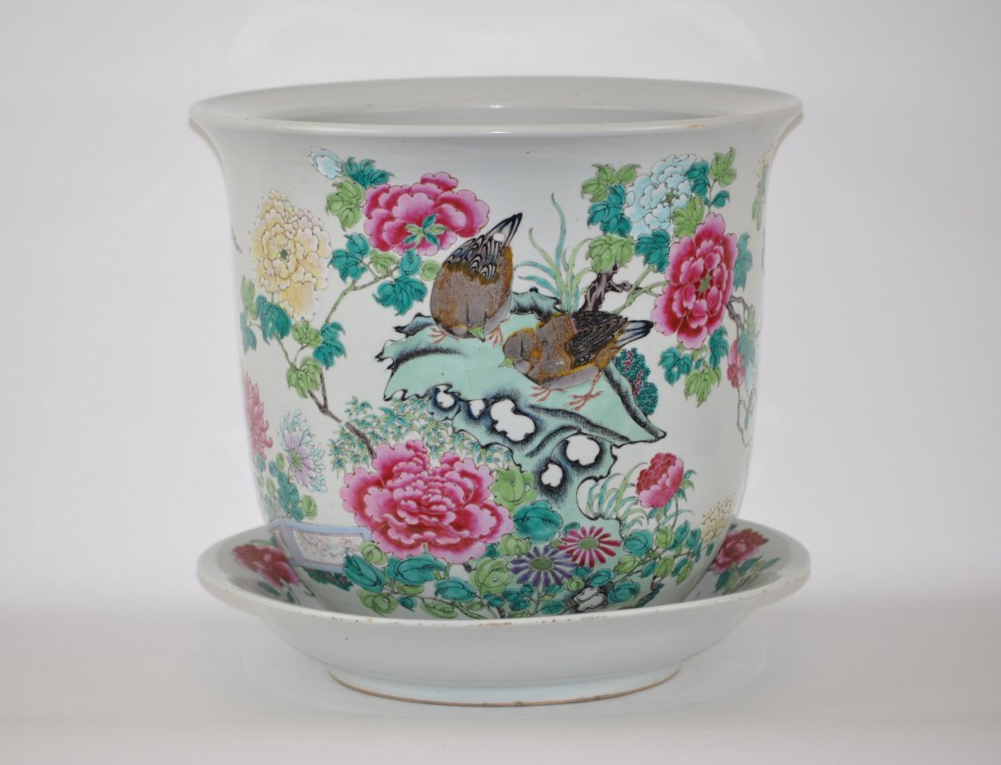 Chinese Set of Famille Rose Planter