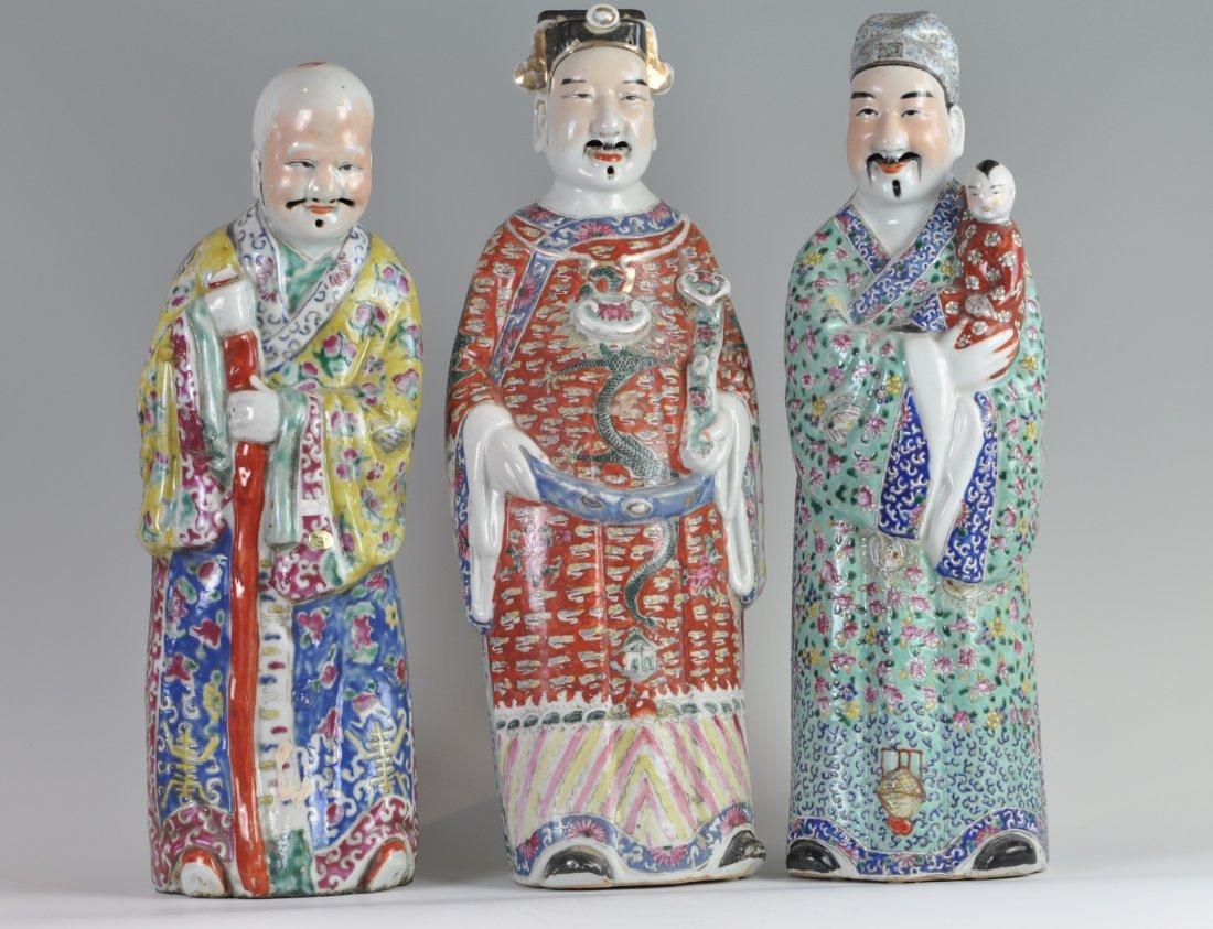 Chinese Set of Three Wisemen