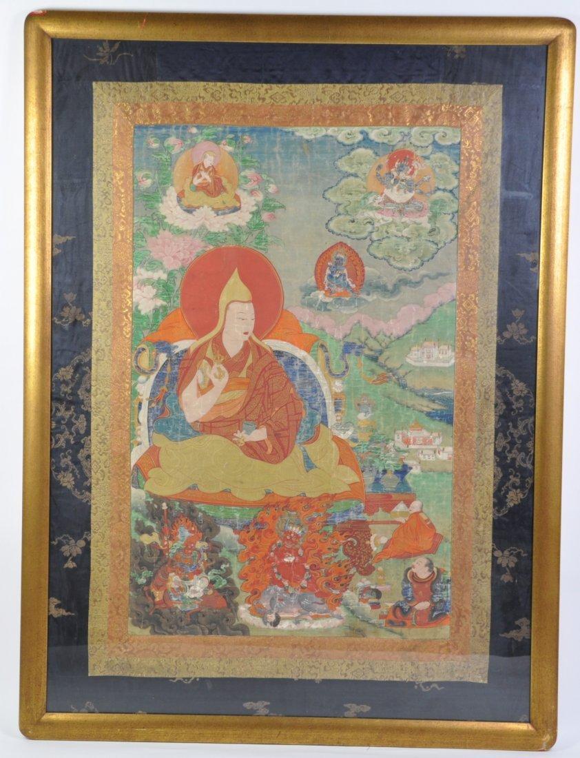 Chinese Large Tang Ka in Buddha Statues