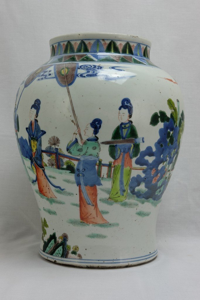 Chinese Five Colored Pot - 2