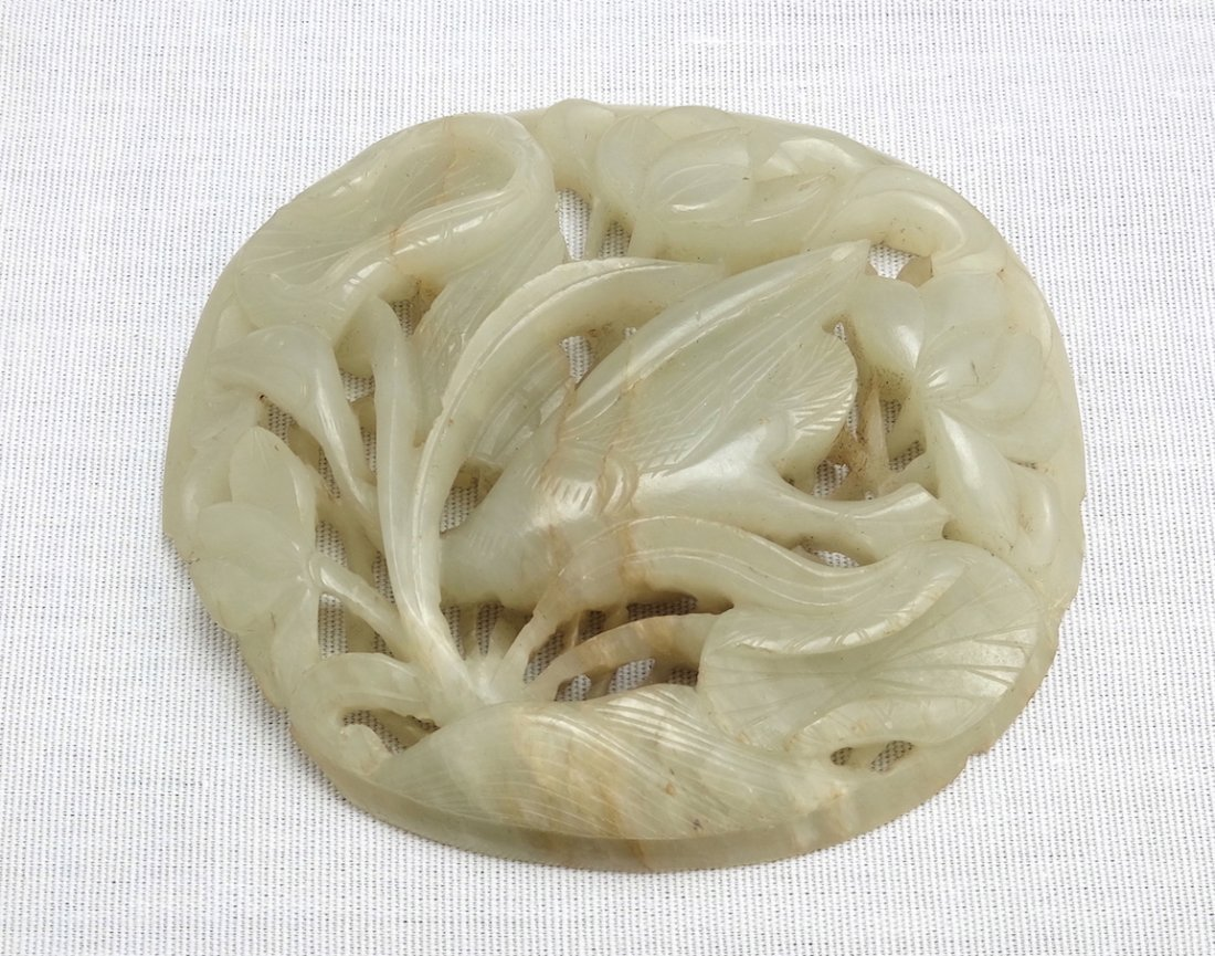 Chinese White Jade Carving - 8