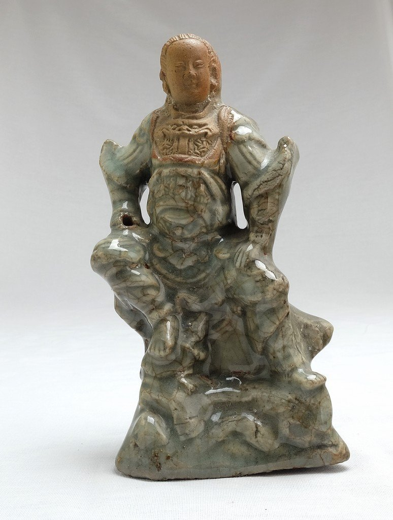 Chinese Celadon Figure Weituo