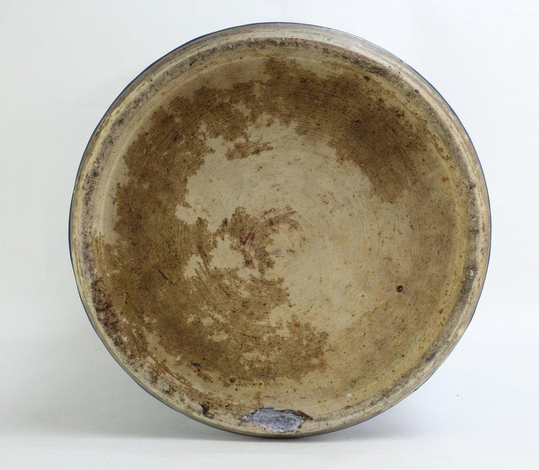 Chinese Large Blue Glazed Lidded Jar - 8