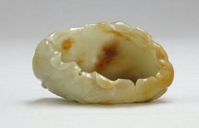 Chinese White Russet Jade Washer - 3