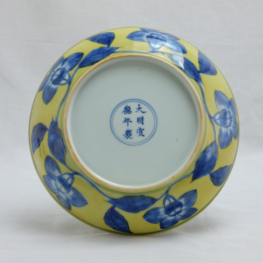 Chinese Yellow Ground Plate