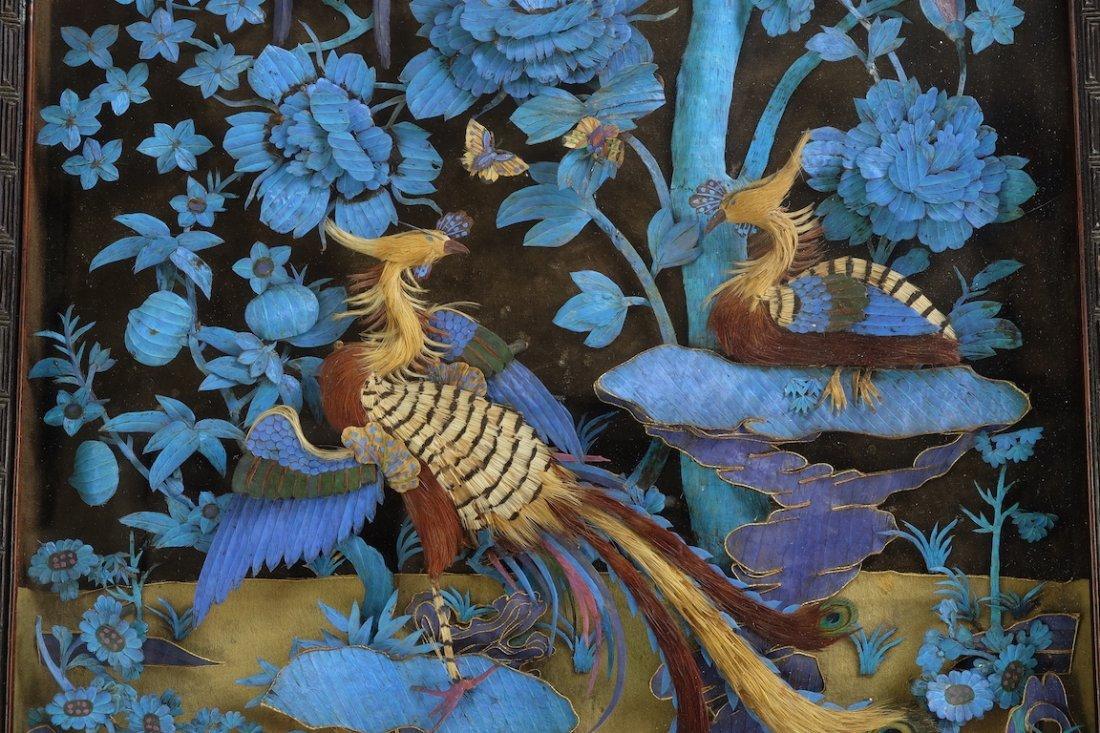Chinese Large Kingfisher Panel紫檀木 - 2