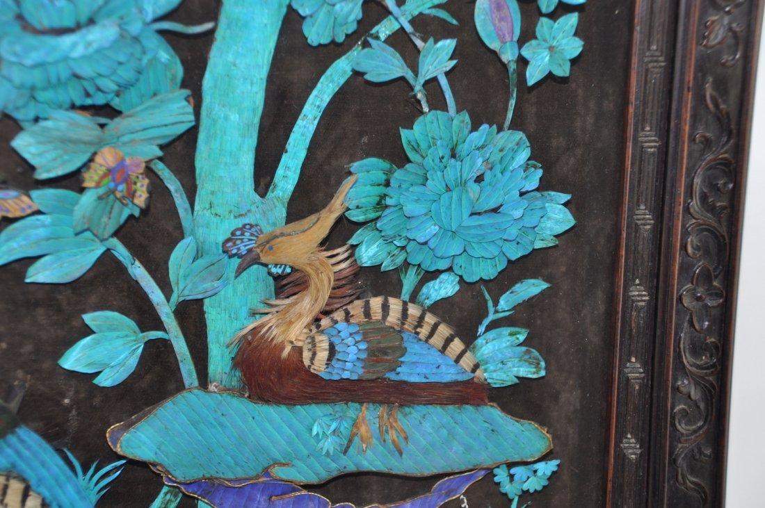 Chinese Large Kingfisher Panel紫檀木 - 3