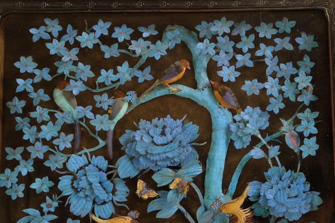 Chinese Large Kingfisher Panel紫檀木 - 4