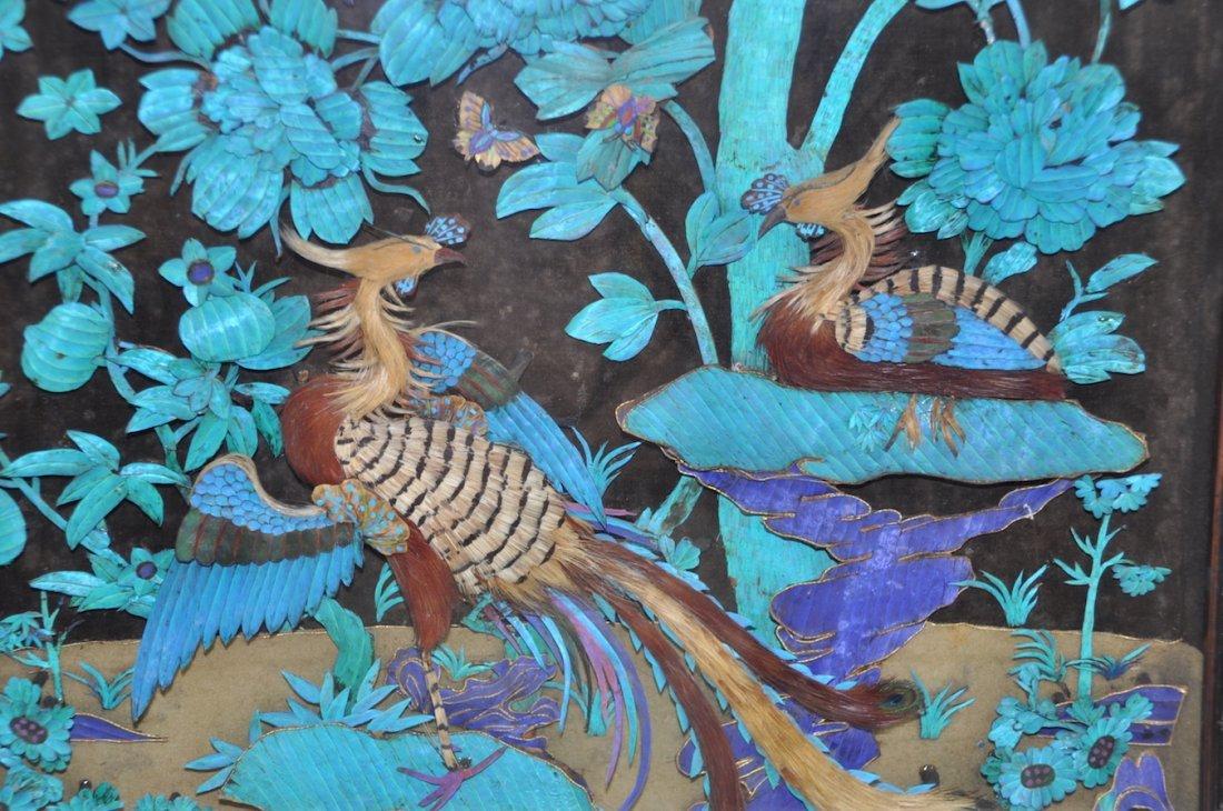 Chinese Large Kingfisher Panel紫檀木 - 5
