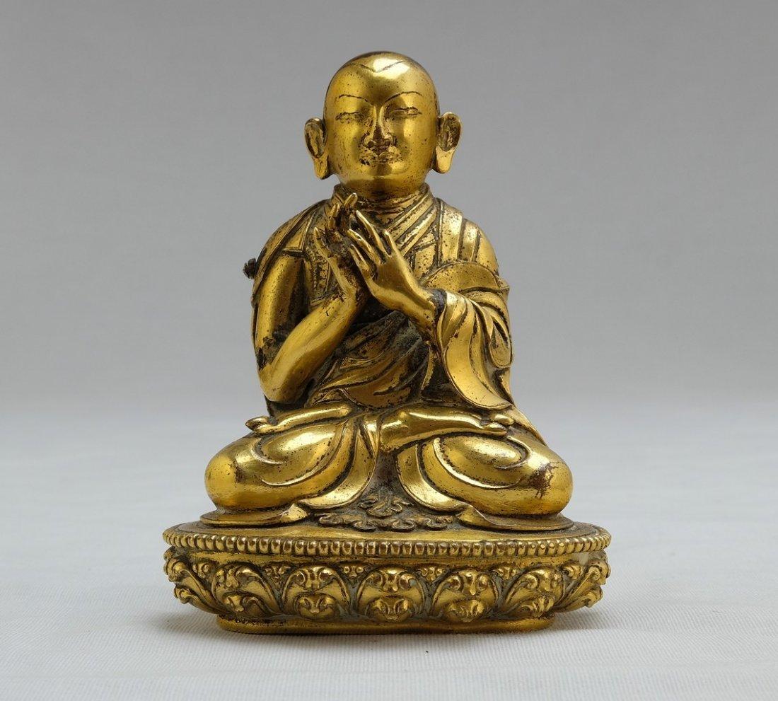 Chinese Gilt Sitting Buddha 2