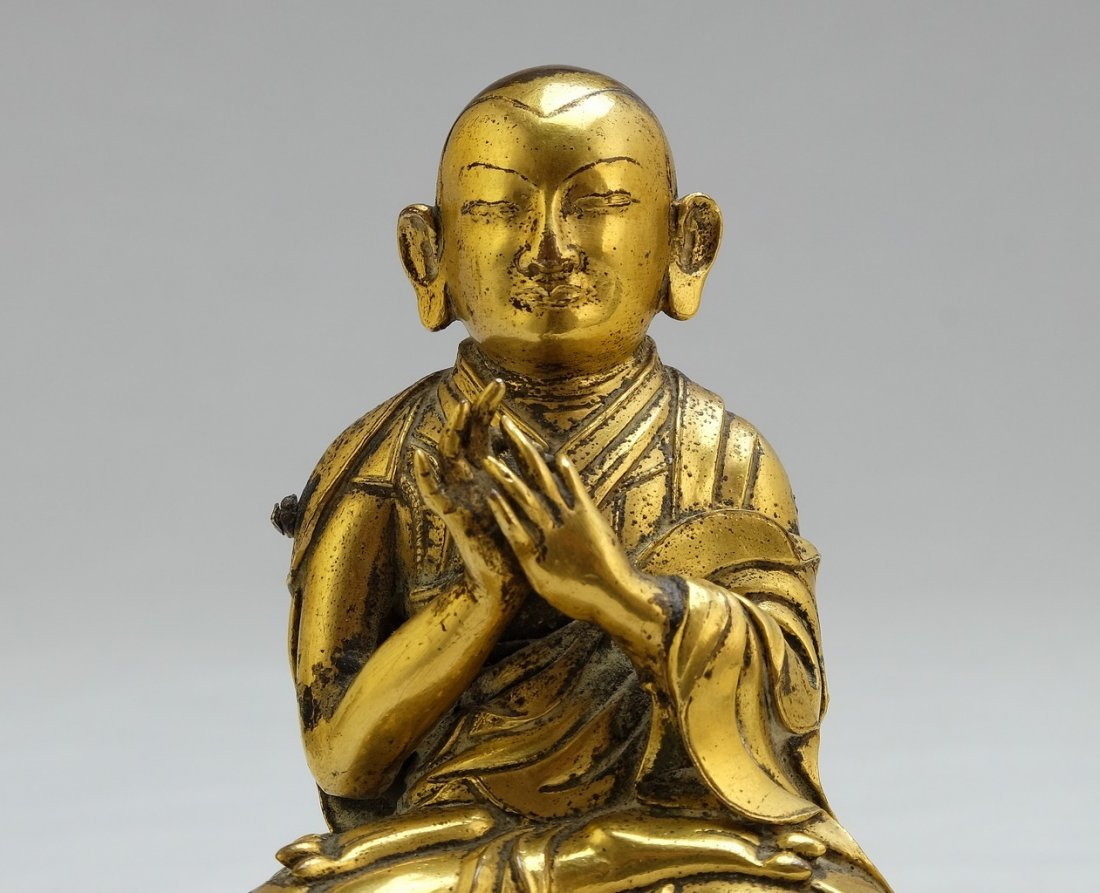 Chinese Gilt Sitting Buddha 2 - 5
