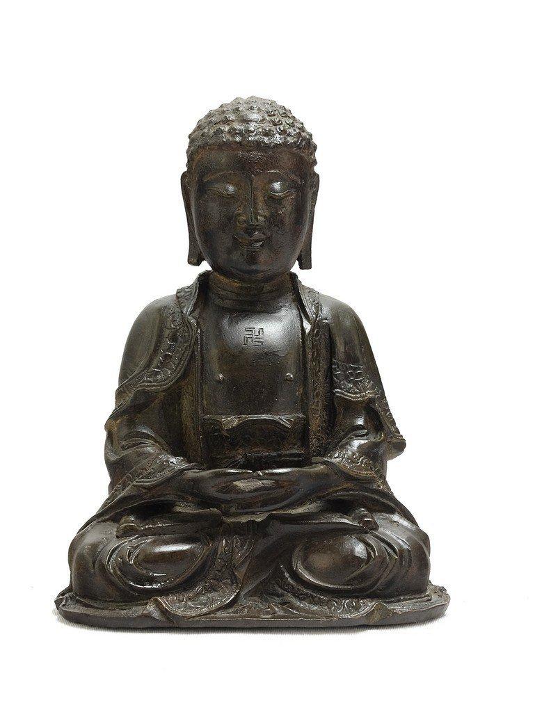 Chinese Ming Sitting Buddha