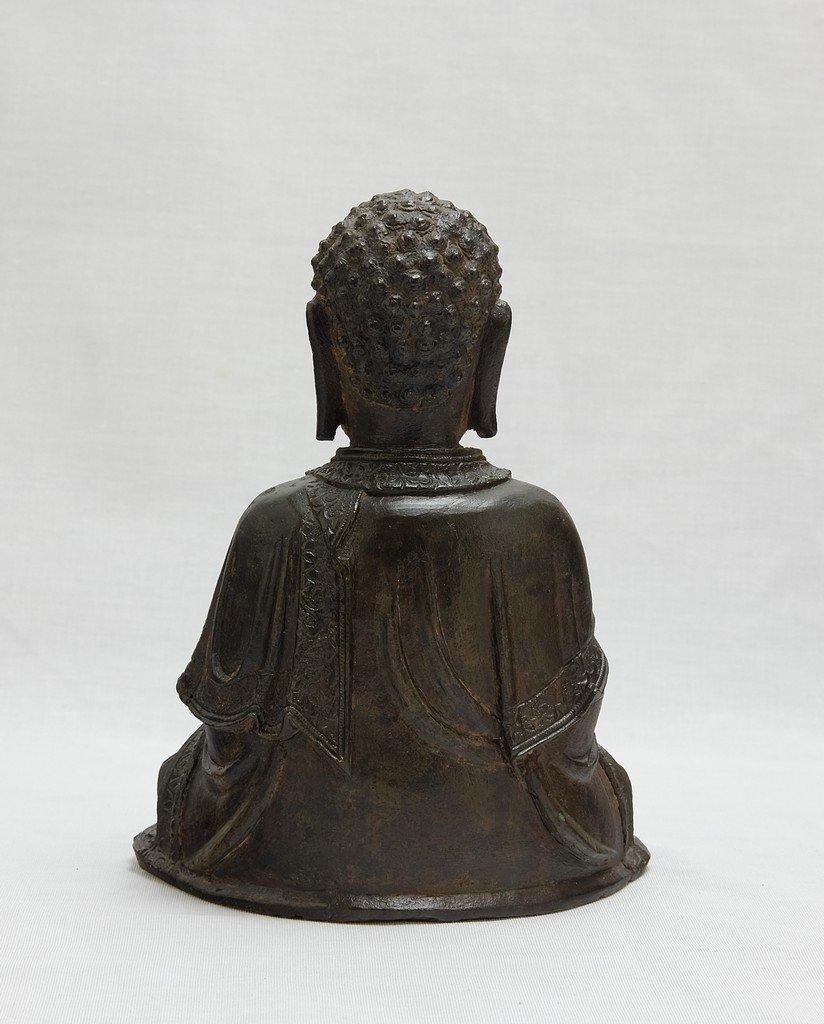 Chinese Ming Sitting Buddha - 4