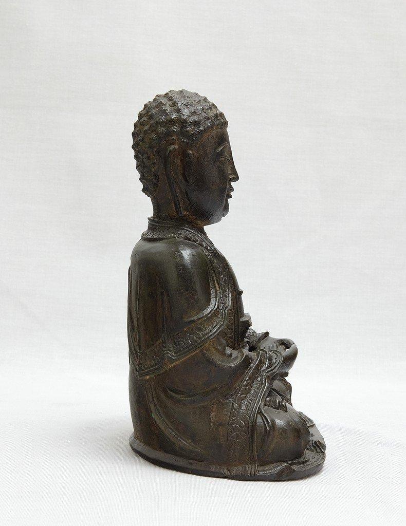 Chinese Ming Sitting Buddha - 5