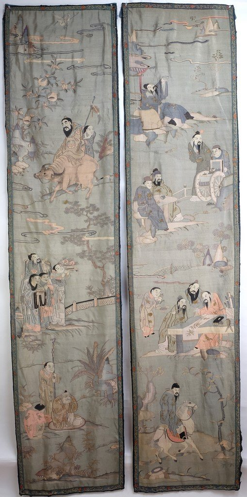Chinese Extra Long Kesi Panel
