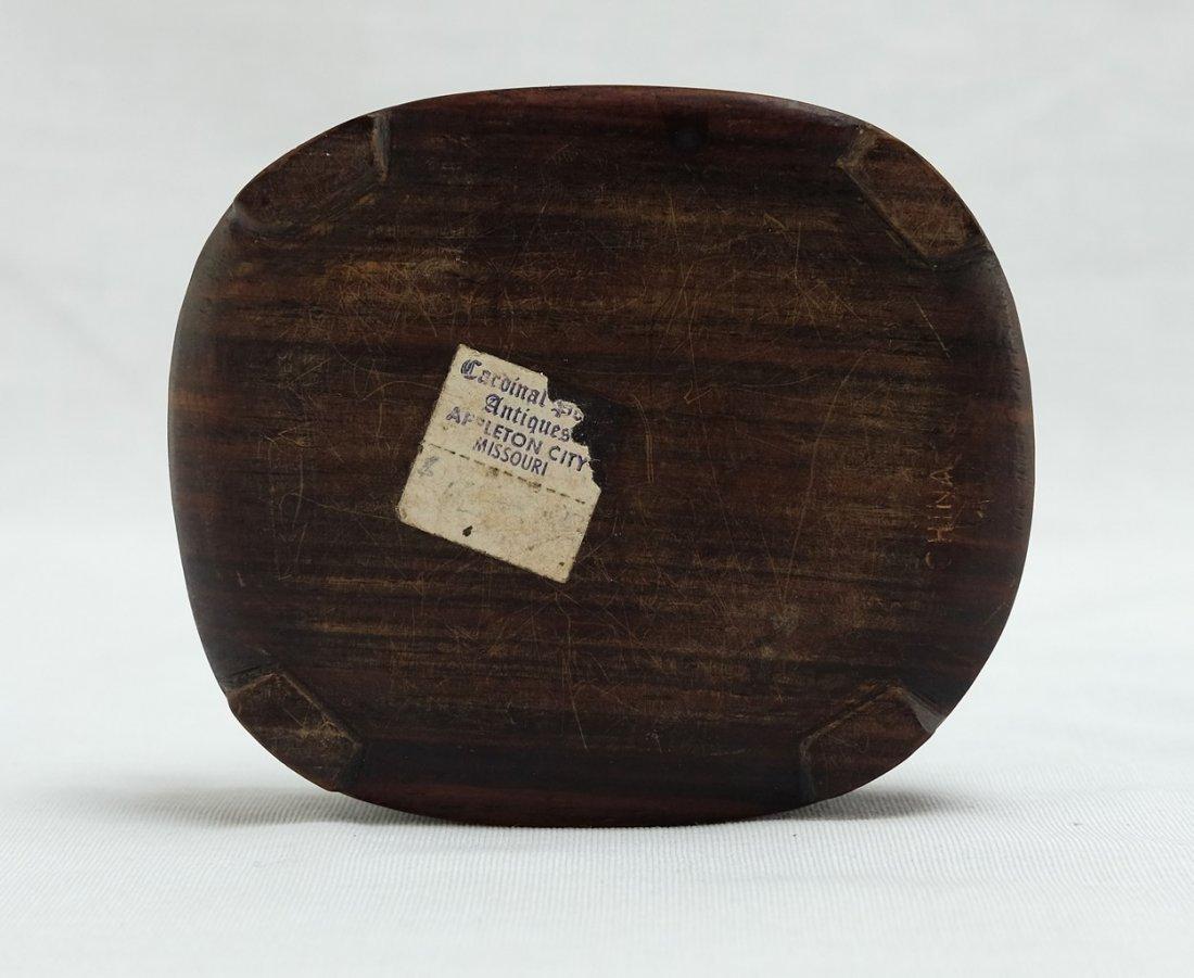 Chinese White Jade Round Wood Box - 7