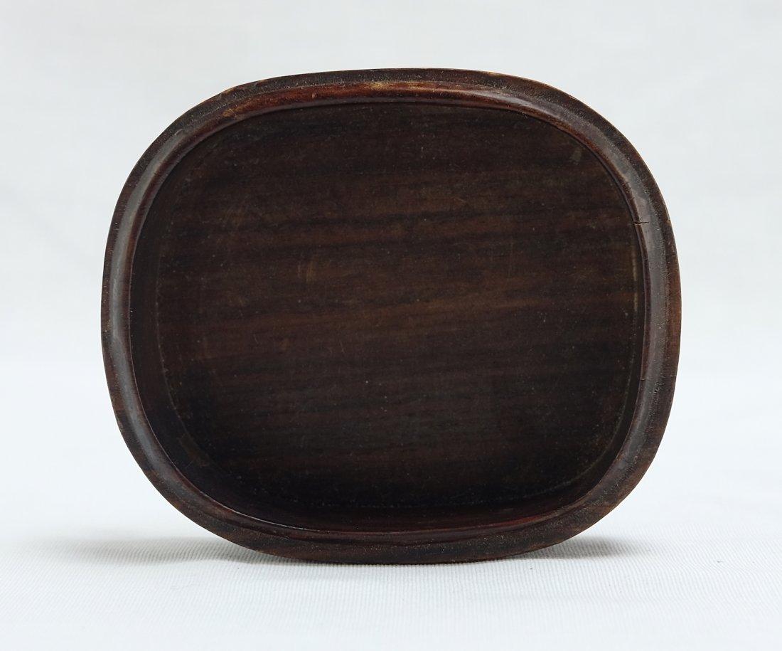 Chinese White Jade Round Wood Box - 8