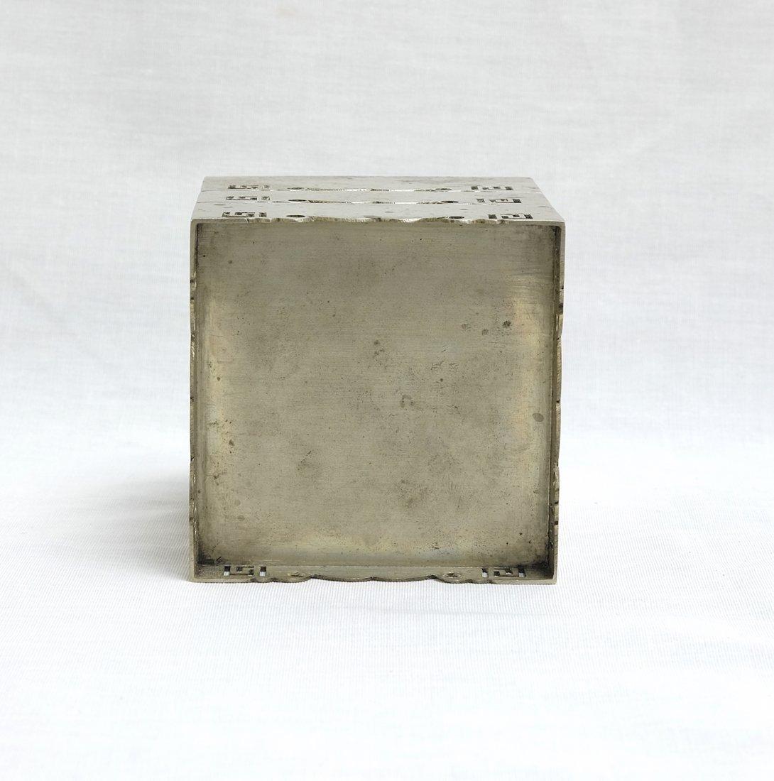 Chinese White Bronze Stack Box漢口任 - 4