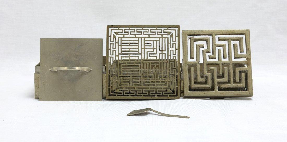 Chinese White Bronze Stack Box漢口任 - 5