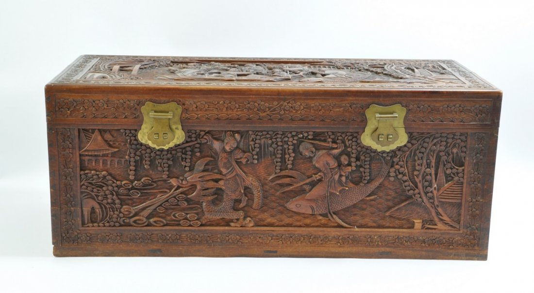 Chinese Extra Large Camphor Wood Trunk