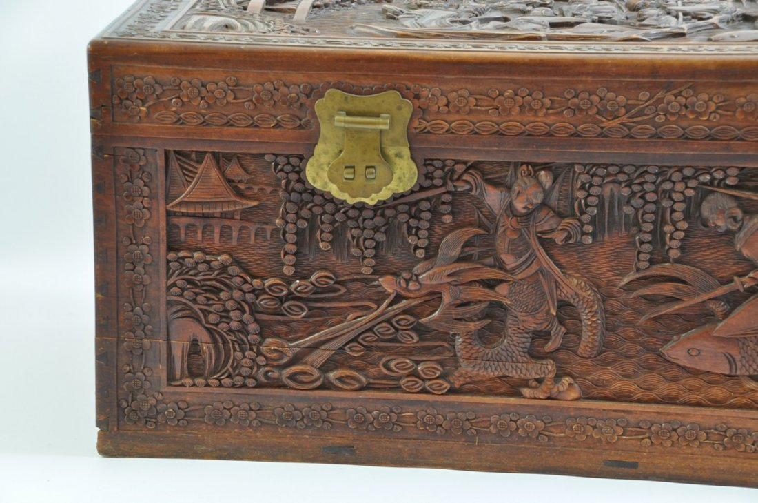 Chinese Extra Large Camphor Wood Trunk - 2